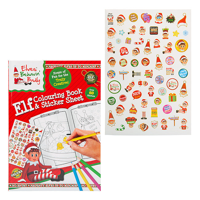 Christmas Elves Behavin Badly Colouring & Sticker Book