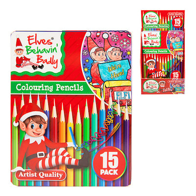 15pc Christmas Elf Colouring Pencil Set