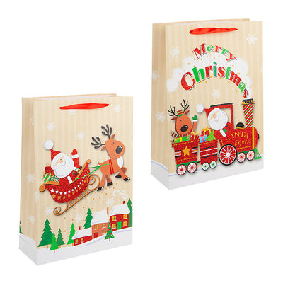 Jumbo Christmas Sleigh & Train Gift Bags