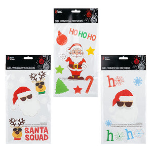 Christmas Cool Santa Gel Reusable Window Stickers