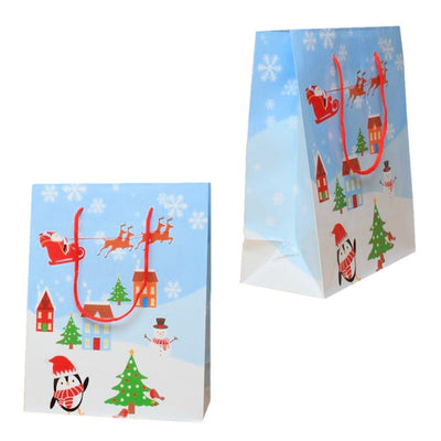 Christmas Scene Glossy Gift Bag [Large]