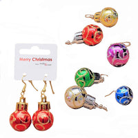 Christmas Glitter Bauble Earrings