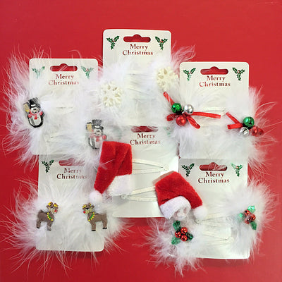 2pc Christmas Themed Hairslide Sleepies
