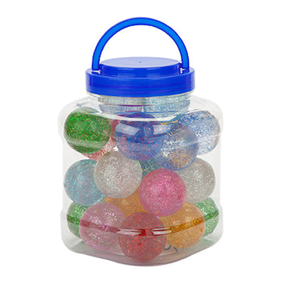 Glitter Effect 45mm Bouncy Jet Balls