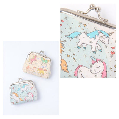 Unicorn Printed Fabric Coin Purse