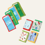 Bright Coloured Assorted Print Wallets (12)