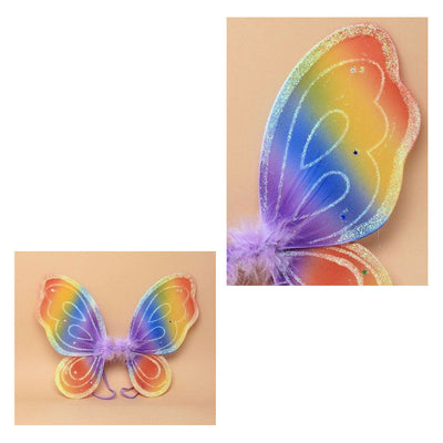 Rainbow Coloured Fairy Wings [Small] (6)