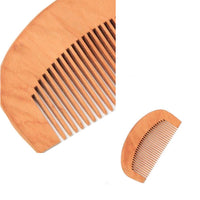 Curved Back Wooden Hair Comb (12)