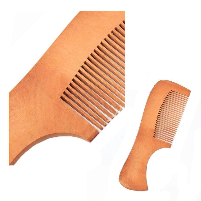 Curved Handle Wooden Hair Comb
