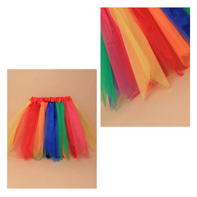 Rainbow Net Child Size Tutu Skirt (6)