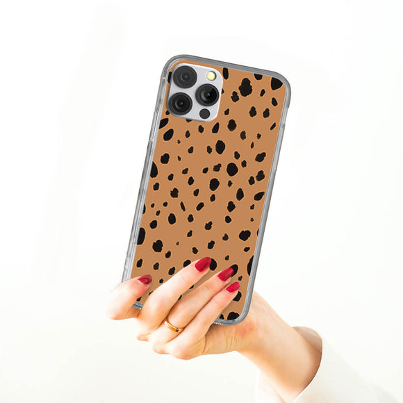 Black Spot Pattern iPhone Case
