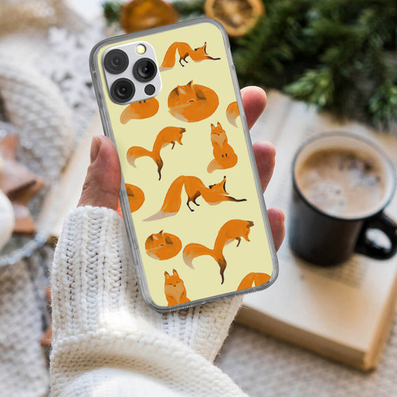 Cartoon Foxes iPhone Case