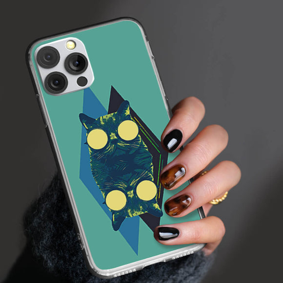 Cat Art Vector iPhone Case