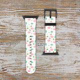 Floral Print Flamingo Apple Watch Band