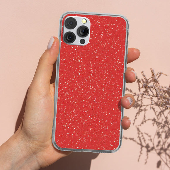 Rose Red Glitter iPhone Case