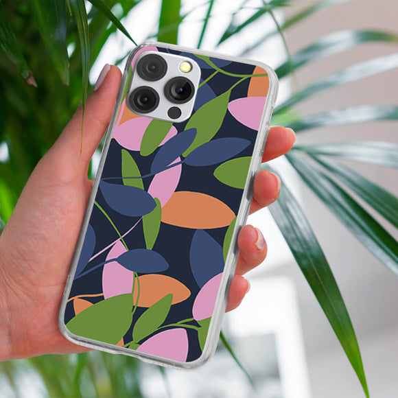 Single Colorful Leaves iPhone Case