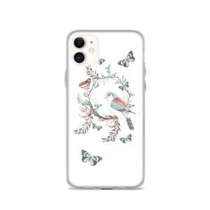 Flower Wreath With Butterflies iPhone Case