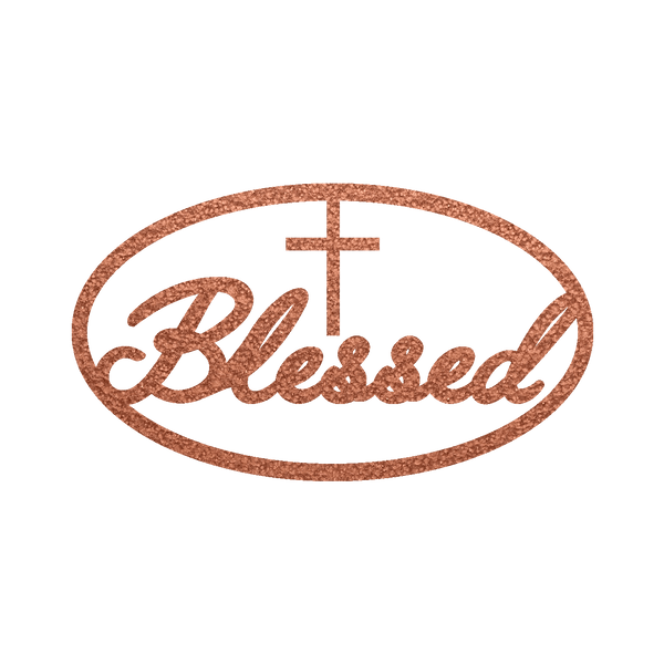Blessed Oval Metal Wall Sign