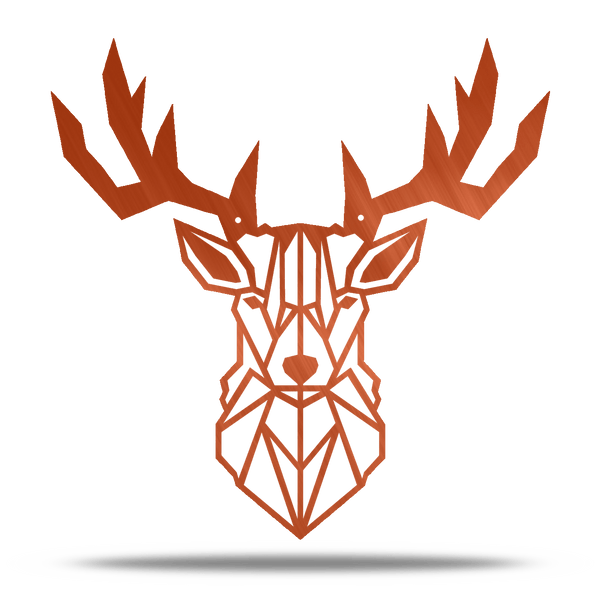 Geometric Deer Metal Wall Art
