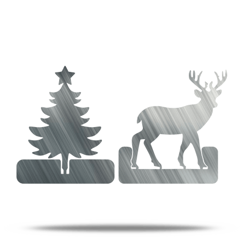 Tree & Deer Folder Decor