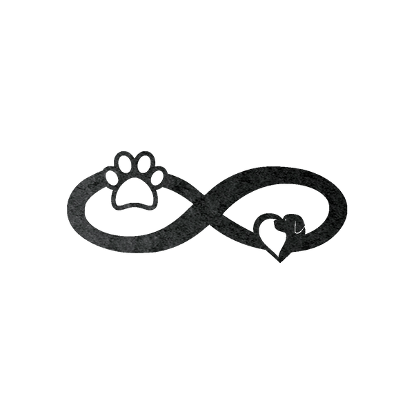 Infinity Paw Metal Wall Sign