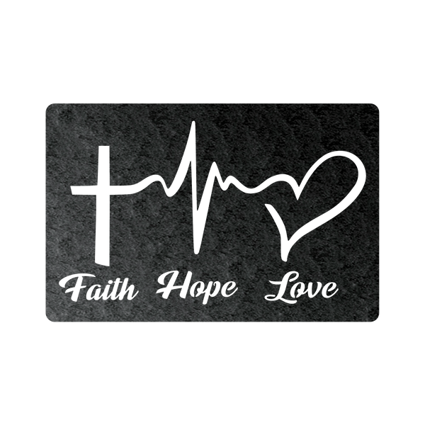 Faith Hope Love Steel Wall Sign