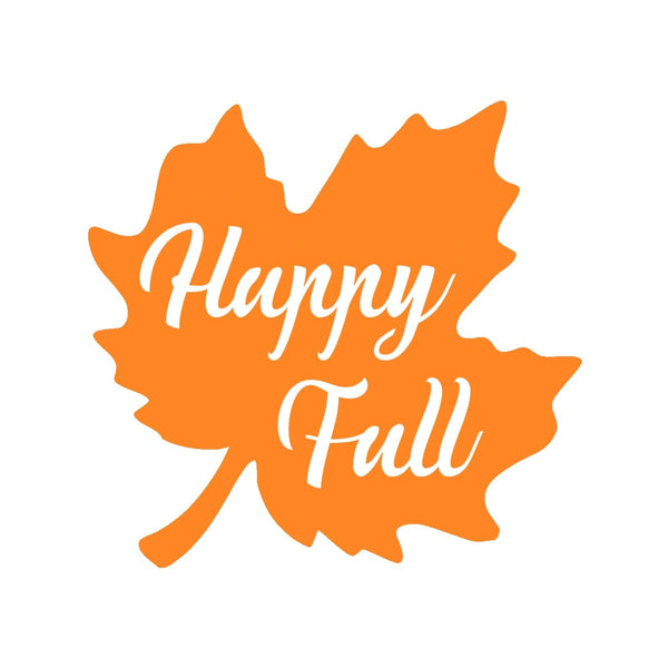 Happy Fall Metal Wall Sign