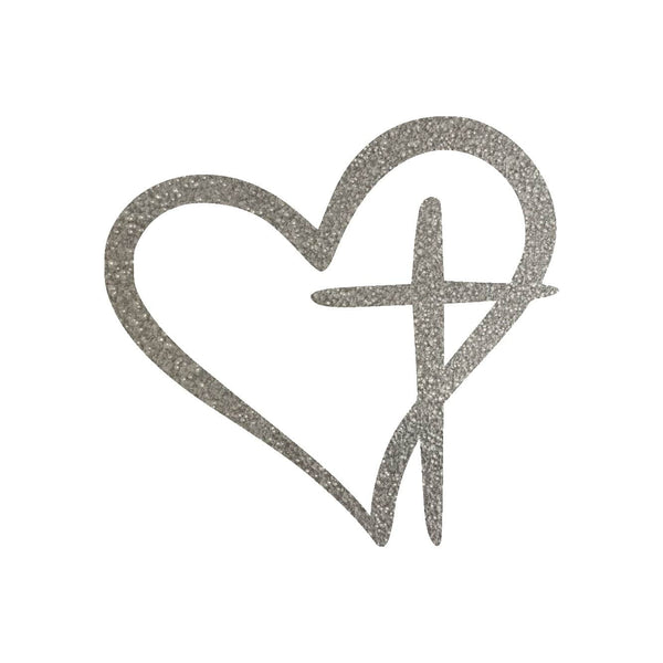 Heart Cross Metal Wall Art