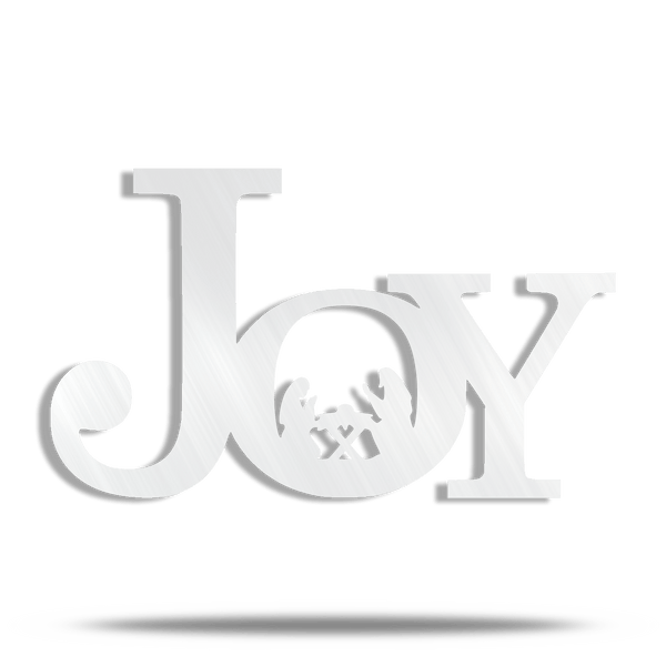 Joy Holy Manger Steel Wall Sign
