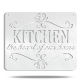 The Kitchen Is The Heart Of The Home Metal Wall Sign