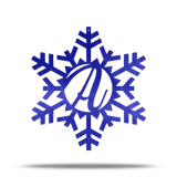 Snowflake Personalizable Steel Wall Sign