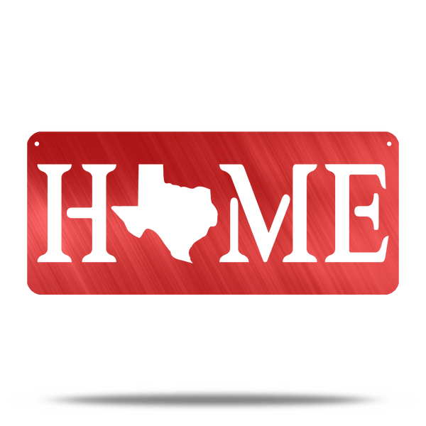 (Pick Your State) Home Rectangle Metal Wall Sign
