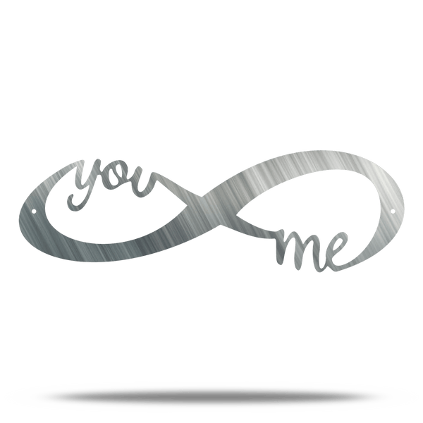 You and Me Infinity Steel Wall Sign