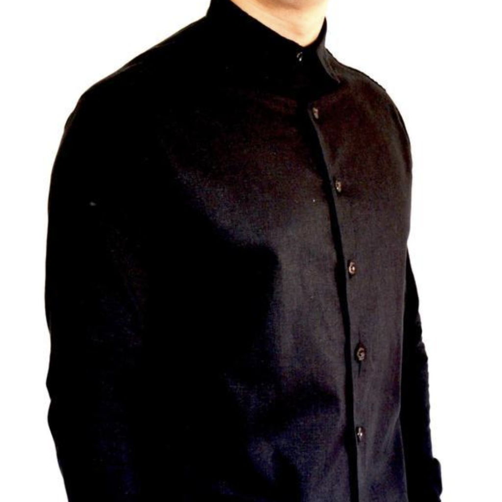 Black Long Sleeve Button Up