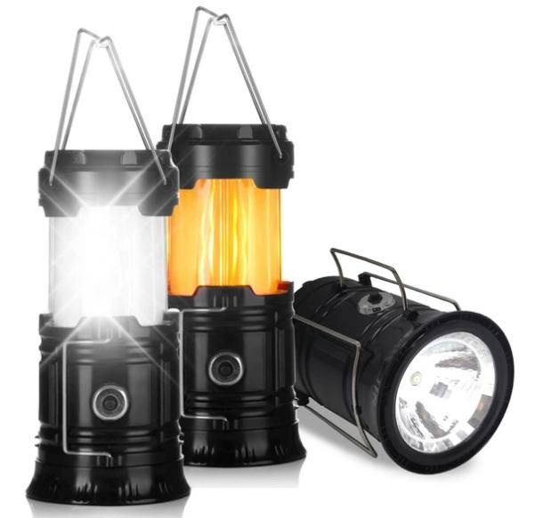Portable Outdoor LED Flame Lantern Flashlights