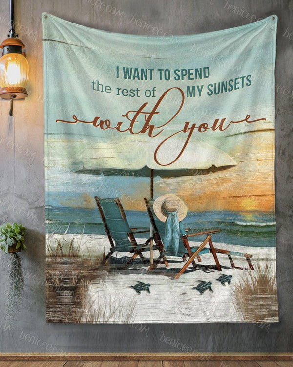 BENICEE Top 5 Family GIft Blanket - The Rest Of My Sunsets-Blankets-Benicee