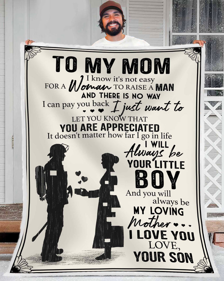 Blanket - Firefighter - To my Mom - You are appreciated (Family) - Benicee
