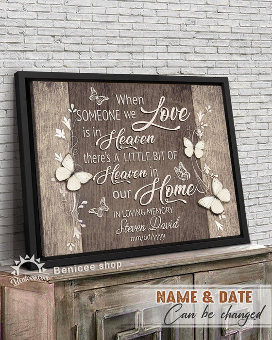 BENICEE  Personalized Memorial Gift Frame Canvas Wall Art Heaven in our Home Top 3 Home Decor