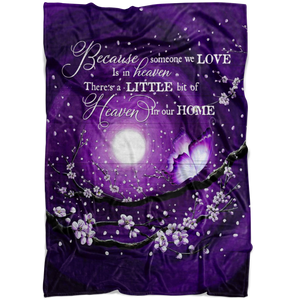 Blanket Memorial - Heaven in our home Purple Version Top 3 BENICEE-Blankets-Benicee
