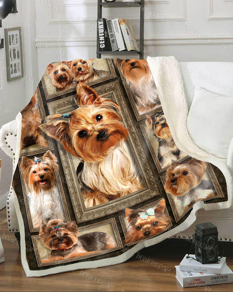 Blanket - Dog - Yorkshire Terrier Brown ver 2 3D - Benicee