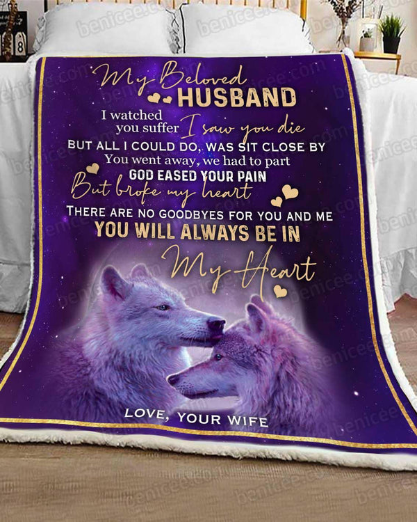 Blanket - Wolf - My beloved Husband - Benicee