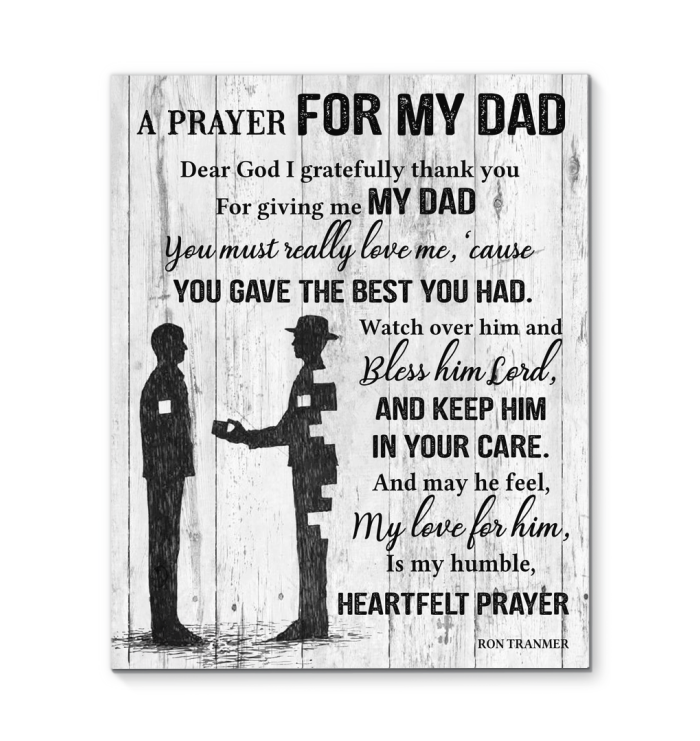 BENICEE A Prayer For My Dad Wall Art Canvas-canvas-Benicee