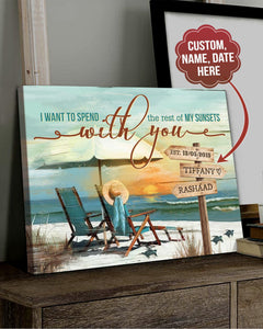 Personalized Anniversary Gift The Rest Of Sunsets Beach House Canvas Art Top 5 BENICEE-canvas-Benicee
