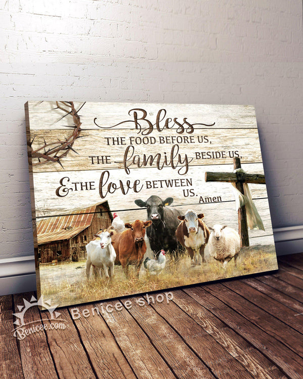 Canvas - Farm - Cattle - Bless our home - Benicee