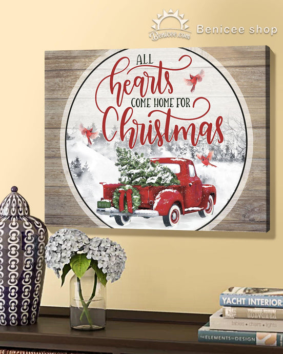 BENICEE Top 10 Christmas Gift Wall Art Canvas - All heart come home for Christmas-Canvas Print-Benicee