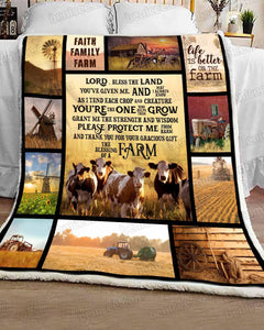 Blanket - Farmer prayer - Simmental cow - Benicee