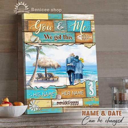 Personalized Anniversary Gifts Ocean Wall Art Canvas You And Me We Got This Top 5
