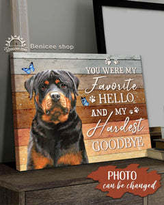 BENICEE Top 5 Dog Canvas - Custom Photo And Name The Hardest Goodbye Wall Art Canvas-Canvas Print-Benicee