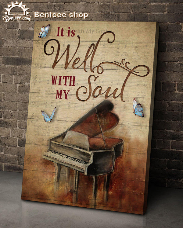 Canvas - Piano - It is well with my soul - Benicee