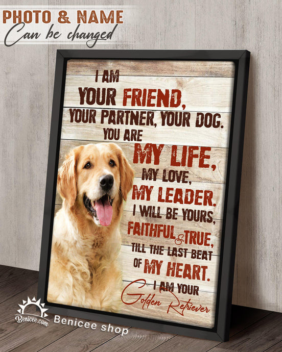 BENICEE Personalized Pet Gift Frame Canvas Wall Art I am your Dog Top 3 Home Decor-Framed Canvas-Benicee